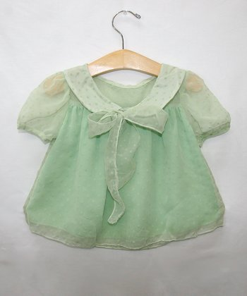 Mint Chiffon Blouse - Toddler & Girls