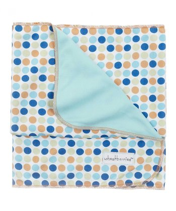 GANZ Blue & Gray Dot Stroller Blanket