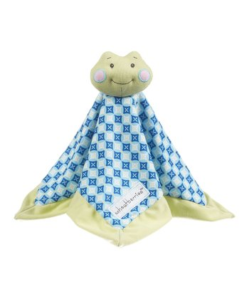 GANZ Blue Geometric Frog Lovey