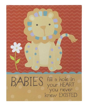 GANZ Lion 'Babies' Wall Art
