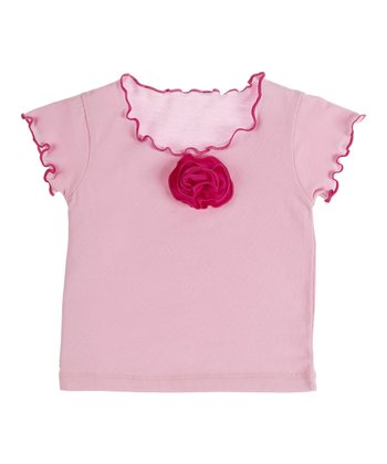 GANZ Light Pink Flower Top