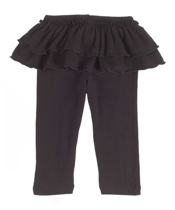 GANZ Black Ruffle Skirted Leggings