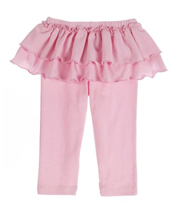 GANZ Light Pink Ruffle Skirted Leggings