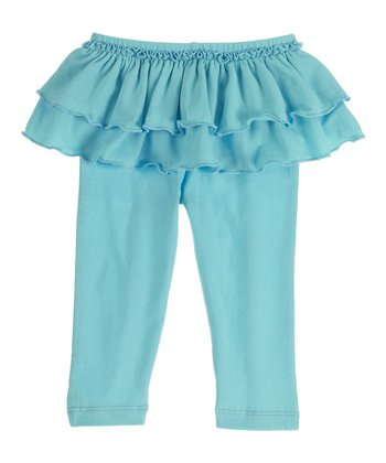 GANZ Aqua Ruffle Skirted Leggings