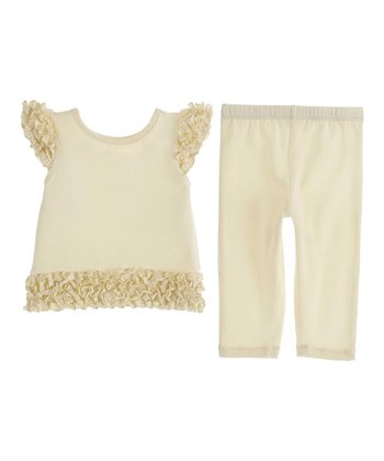 GANZ Yellow Ruffle Top & Pants