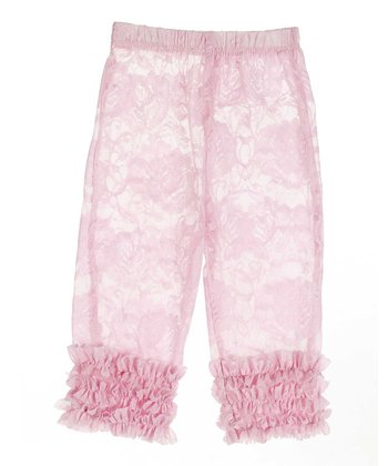 GANZ Light Pink Lace Leggings