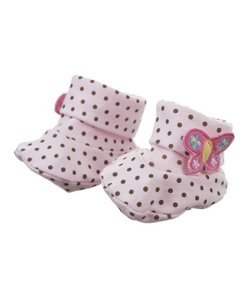 GANZ Pink Polka Dot Slipper
