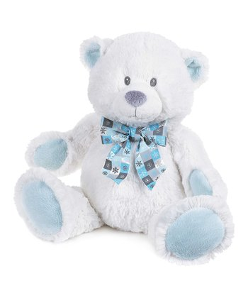GANZ White & Blue 15'' Snowflake Bear Plush Toy