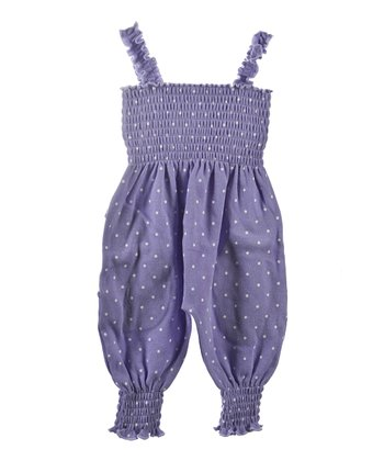 GANZ Purple Polka Dot Playsuit