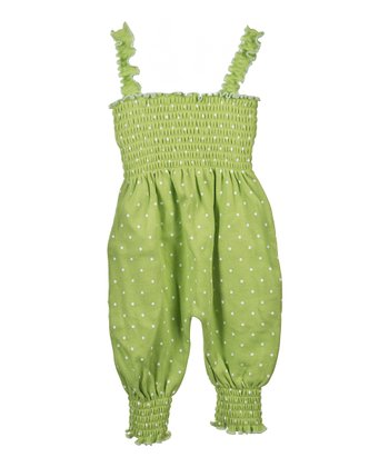 GANZ Green Polka Dot Playsuit