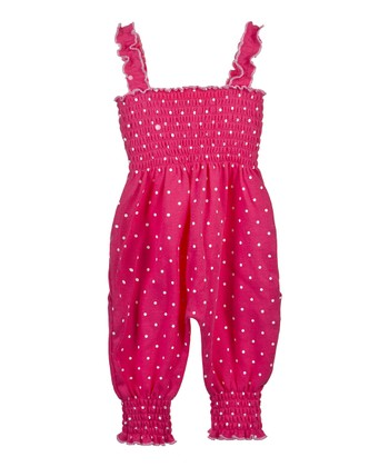 GANZ Pink Polka Dot Playsuit