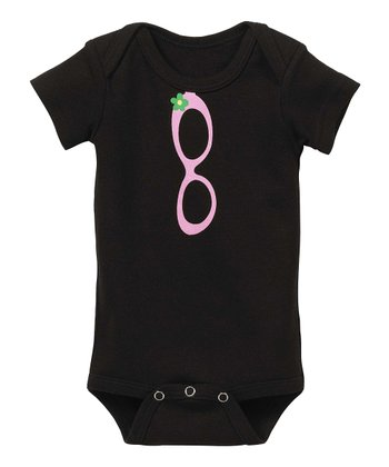 GANZ Black & Pink Sunglasses Bodysuit