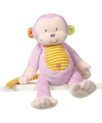 Pink 9'' Mason Monkey Plush Toy