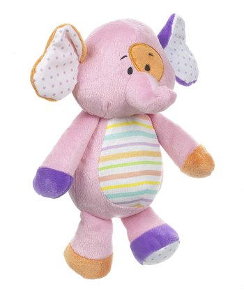GANZ Pink 11'' Elephant Plush Toy