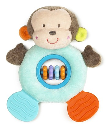 Blue Mason Monkey Rattle