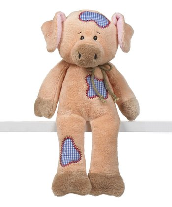 GANZ Pink Pig Rodeo Friends Plush Toy