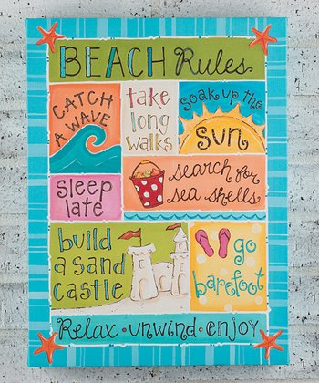 'Beach Rules' Canvas