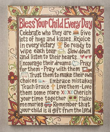 'Bless Your Child' Canvas