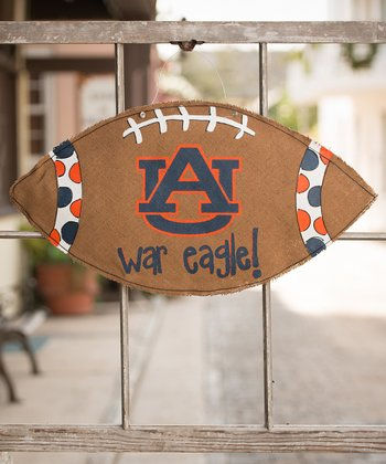 Auburn Football Burlap Wall Hanging