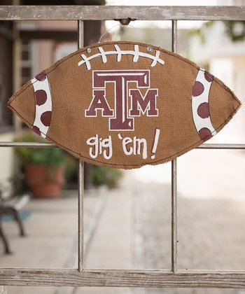 Texas A&M Football Burlap Wall Hanging
