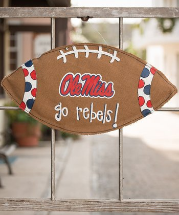 Mississippi Football Burlap Wall Hanging