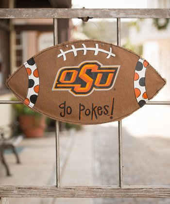Oklahoma State Football Burlap Wall Hanging