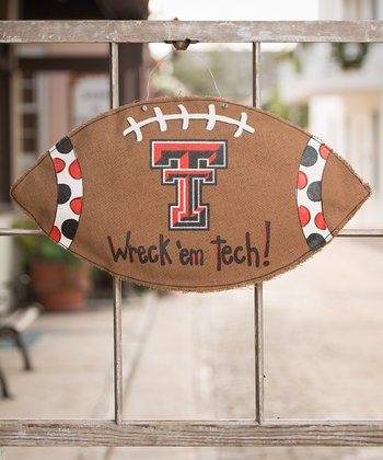 Texas Tech Football Burlap Wall Hanging