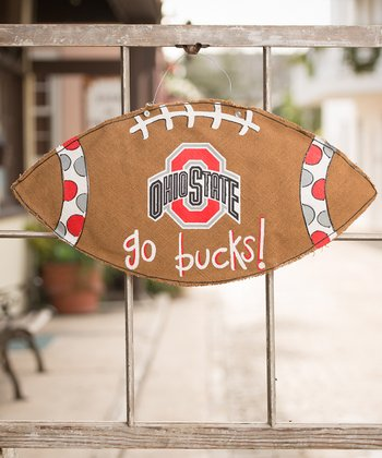 Ohio State Football Burlap Wall Hanging