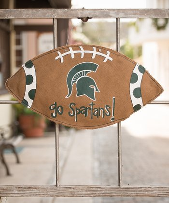 Michigan State Football Burlap Wall Hanging
