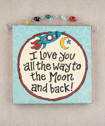 'To the Moon and Back' Beaded Canvas