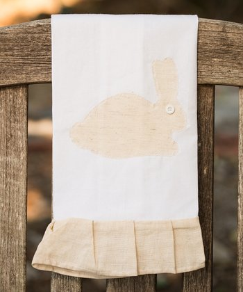 Natural Bunny Tea Towel