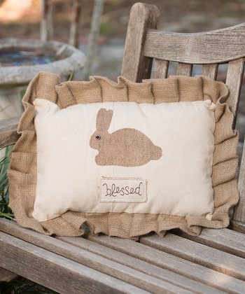 'Blessed' Bunny Large Pillow