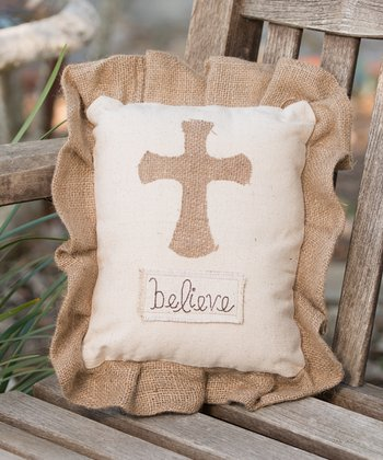 'Believe' Cross Pillow
