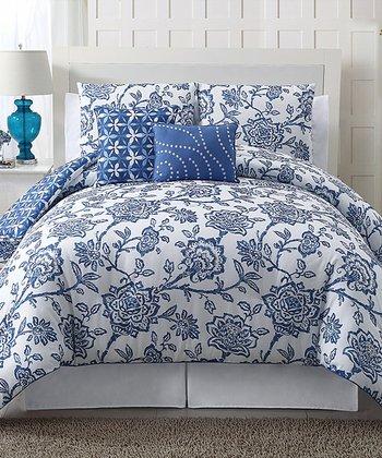 Blue Jordin Reversible Quilt Set