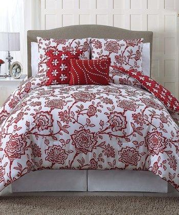 Red Jordin Reversible Quilt Set