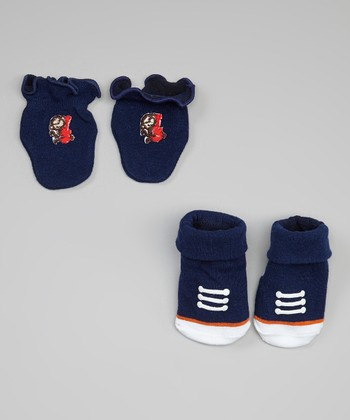Navy Blue Rock 'n' Roll Monkey Socks Set