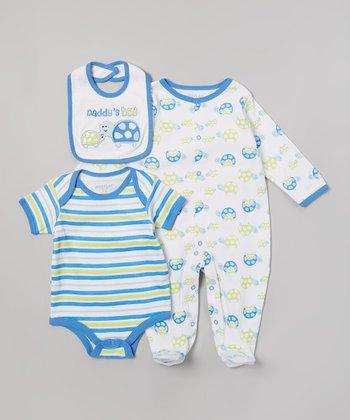 Weeplay Kids Blue 'Daddy's Boy' Bodysuit Set - Infant
