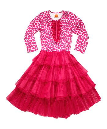 Pink Giraffe Mambo Dress - Toddler & Girls