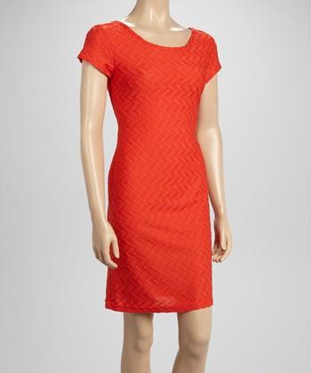 Sharagano Poppy Textured Sheath Dress