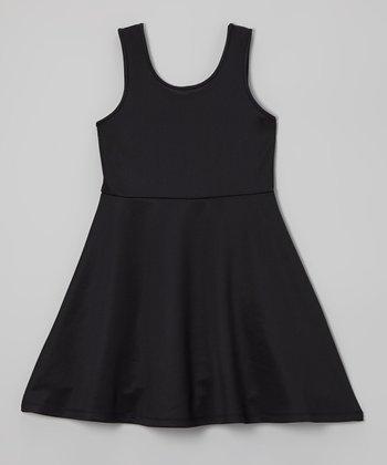 Black A-Line Dress - Girls