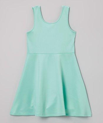 Mint A-Line Dress - Girls