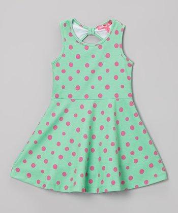 Citrus & Lime Polka Dot A-Line Dress - Infant & Toddler