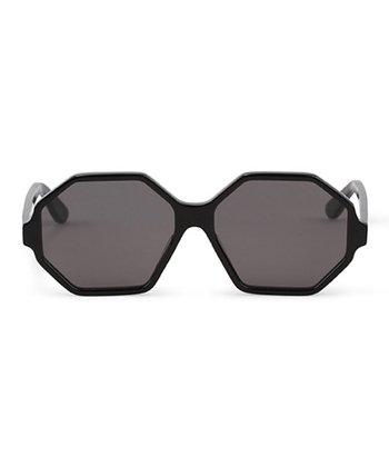 C. Wonder Black Hexagonal Sunglasses