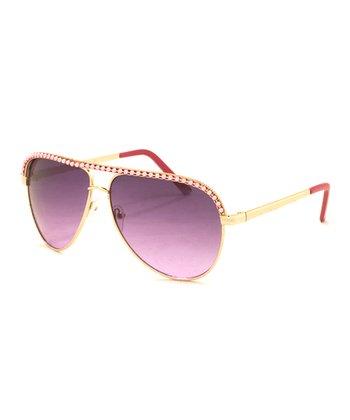 A.J. Morgan Gold & Pink Aunt B Sunglasses