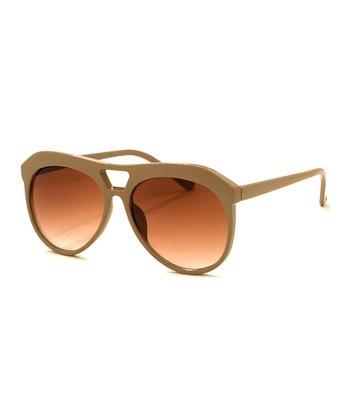 A.J. Morgan Taupe Brown Portal Sunglasses
