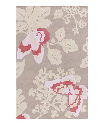 Pink Butterfly Abigail Rug