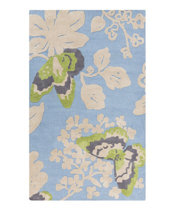 Green Butterfly Abigail Rug