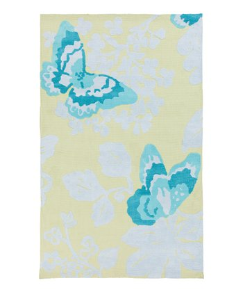 Blue Butterfly Abigail Rug