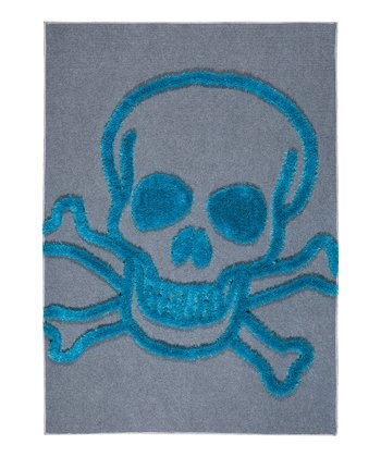 Blue Skull Crash Rug