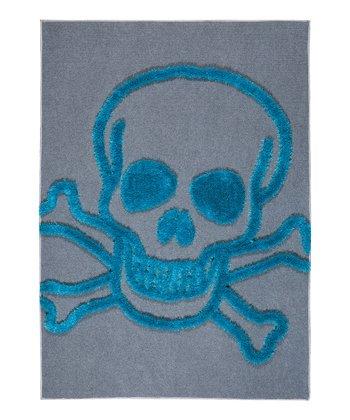 Blue Skull Crash Rug